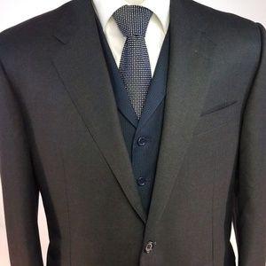 Hickey Freeman Italy Super 130's Wool Suit 42S